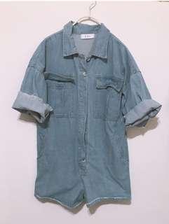 🚚 韓國牛仔連身褲