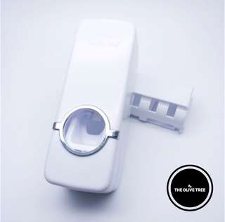 Automatic Toothpaste Dispenser & Toothbrush Holder