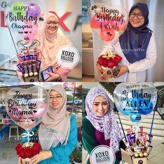 Hot Air Balloon Flower Chocolate Bouquet