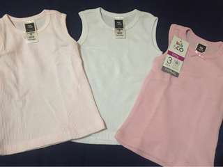 Kids&co 3pck baby thermal sleeveless