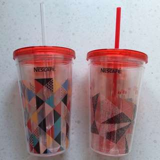 BN Nescafé Double Wall Tumbler With Straw