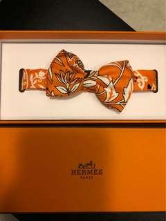 Hermes silk bow tie