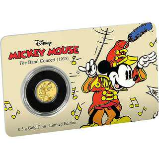 2016 Mickey the Band Concert 0.5 Gold Coin