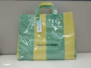 Comme des Garcon Shirt Tote Bag 黃綠色手提包