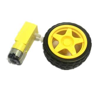 2pcs package Deceleration DC motor + supporting wheels for smart car