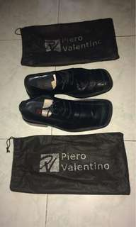 Piero Valentino black leather shoes