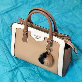 Guess Lenora Color-block Satchel Bag