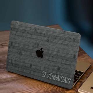 Dark Wood Macbook Cover