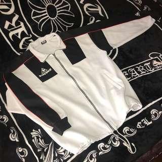🚚 古著  日本 Le Coq Sportif 法國 公雞牌 大Logo 復古 撞色 拼接 立領 翻領 棉質 休閒外套