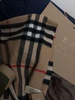 Burberry 頸巾 classic check cashmere