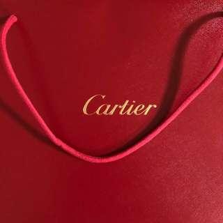 Cartier 卡地亞正版 紙袋大約A4大(100三個)