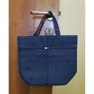 Authentic TOMMY HILFIGER Denim Tote Bag red