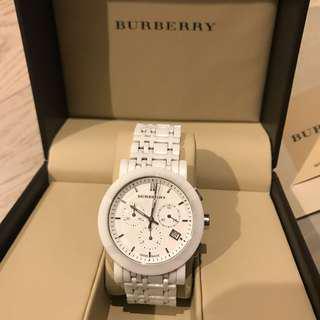Burberry 型格百搭陶瓷錶 BU1770 Ceramic White Chronograph Dial Watch