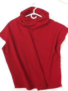 Red Cowl Neck fits M To XL
