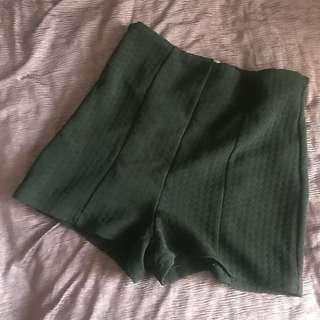 /F21/ Black High-Waist Shorts