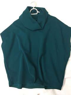 Teal cowl neck M to XL