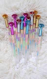 rainbow ball pen set 12s - colored