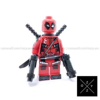 Lego Compatible Marvel Superheroes Minifigures : Deadpool