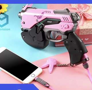 Overwatch Dva Gun Power Bank 充電寶 White/Pink