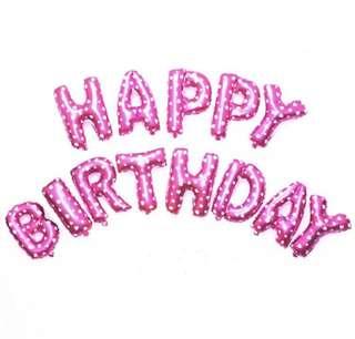 Happy birthday Balloon (Pink)