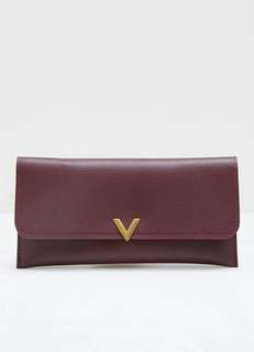 Nobie Flap Wallet Maroon