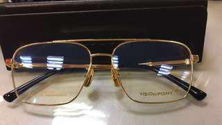 18k Gold frame spectacles