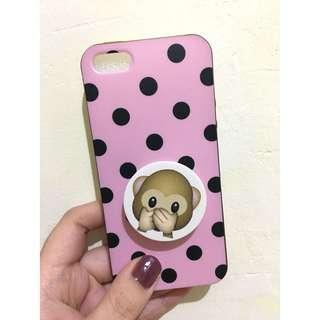Black pink polkadot iPhone 5s case