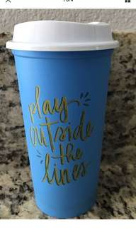 Starbucks US Reusable Cup with Lid 2018 (Play Outside The Lines)