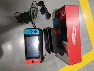 Nintendo switch condition 10/10 baru pakai sebulan no games