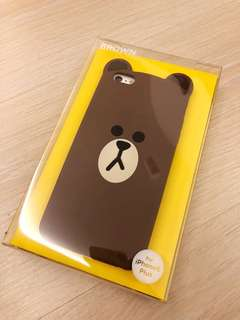Line Brown iPhone 6 Plus case