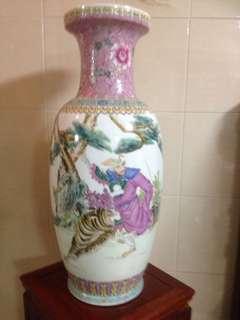 China vase and smiling Buddha