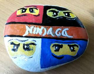 Pebble painting session
