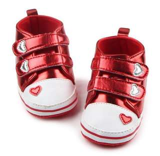 Baby Girl Heart Shoes