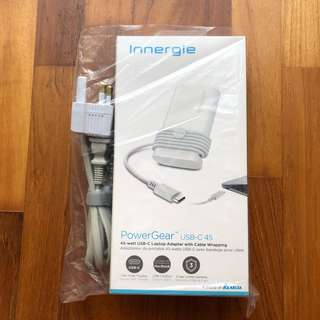 BNIB Innergie PowerGear USB-C 45 45W Laptop Adapter Charger Cable Wrap