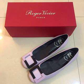 💯 authentic and New ROGER VIVIER Gommette Ballerinas in Leather
