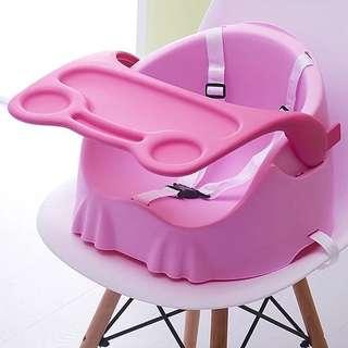 粉紅色兒童餐椅 8成新