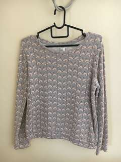 Forever 21 - Grey & Pink Fox Pattern Sweater
