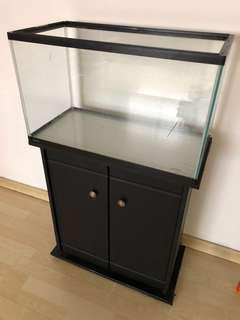 2ft GEX Fish Tank c/w free cabinet stand