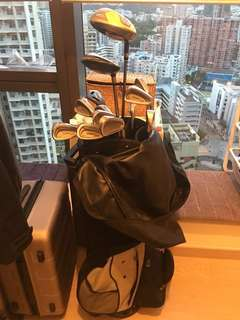 Excellent Deal !!! Golf set - Titleist 981SL ladies irons + Nike driver + TaylorMade Wood + Putter + Cart Roller Bag 高爾夫球桿
