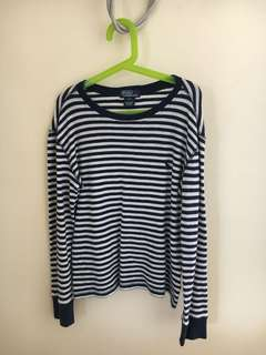 Ralph Lauren Blue & White Striped Sweater