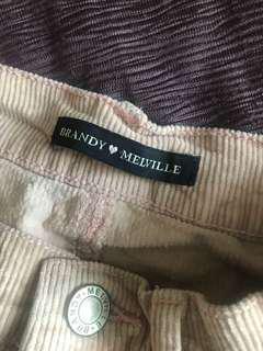 /BRANDYMELVILLE/ Pink Corduroy Highwaist Skirt