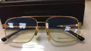 18k gold plated spectacles frame