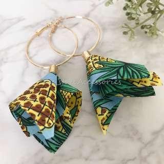 Summer布花系列 handmade耳環