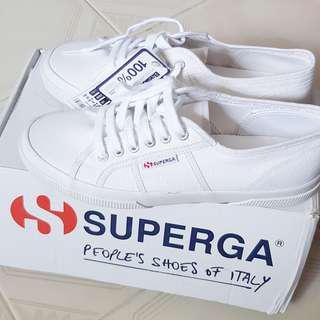 •LAST INSTOCK• Superga 2750 White platform sneaker shoes size 41