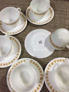 MARKED DOWN: CORELLE CUP AND SAUCER 6PCS/SET