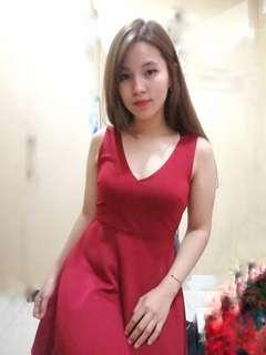 Xxi red maroon dress