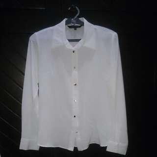 Connexion White Shirt Kemeja Putih Size M