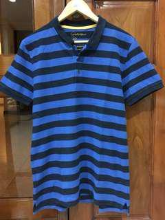 Blue Black Stripes Giordano Polo