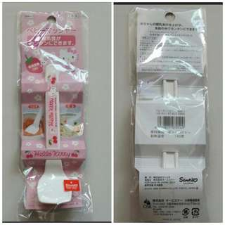 [Juniorcloset] 🆕 Sanrio Hello kitty spoon (Design for easy use for parents and baby) (Made in Japan)