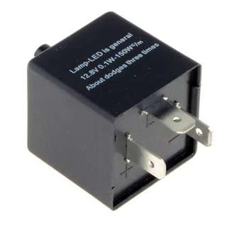 Electronic LED Flasher Relay 3Pin 12V Motorcycle Signal Adjustable